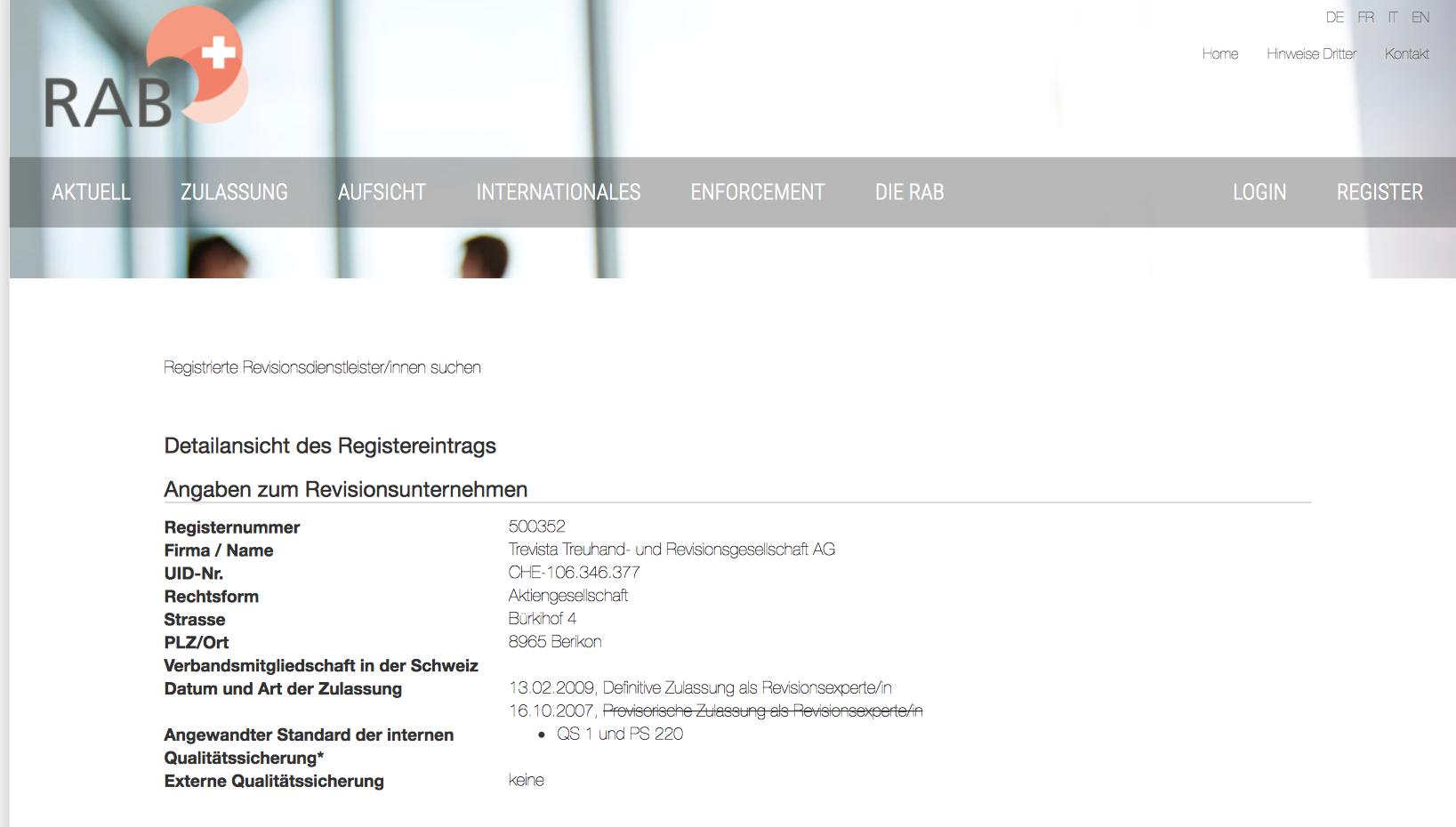 Download - Trevista Treuhand- und Revisionsgesellschaft AG